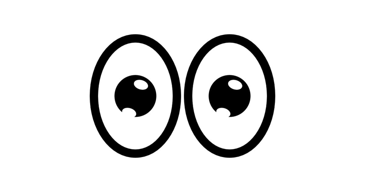 ojos de dibujos animados.