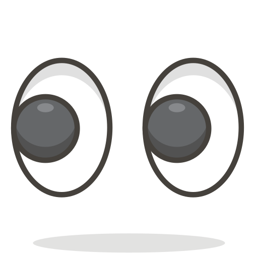 Icono Los ojos Gratis de 780 Free Vector Emoji.