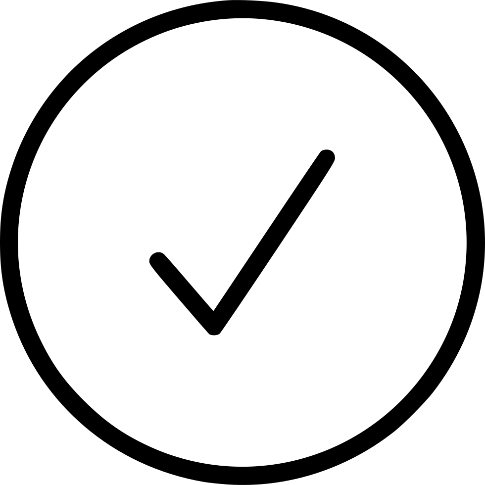 Check Complete Alright Ok Tick Test Circle Button Svg Png.