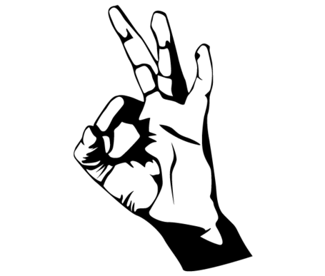 Free Hand Ok Sign Vector Arts Clipart and Vector Graphics.