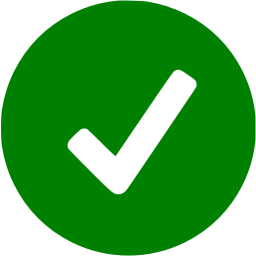 Green ok icon.