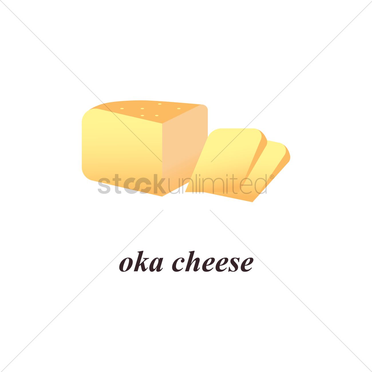 Oka cheese Vector Image.
