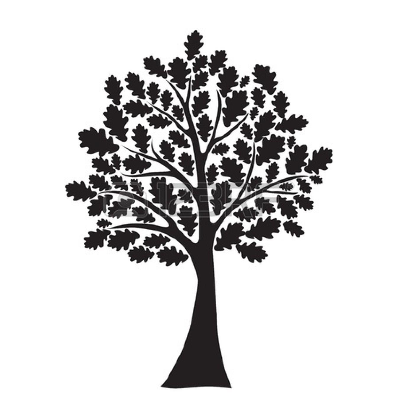 Oka tree with heart clipart.