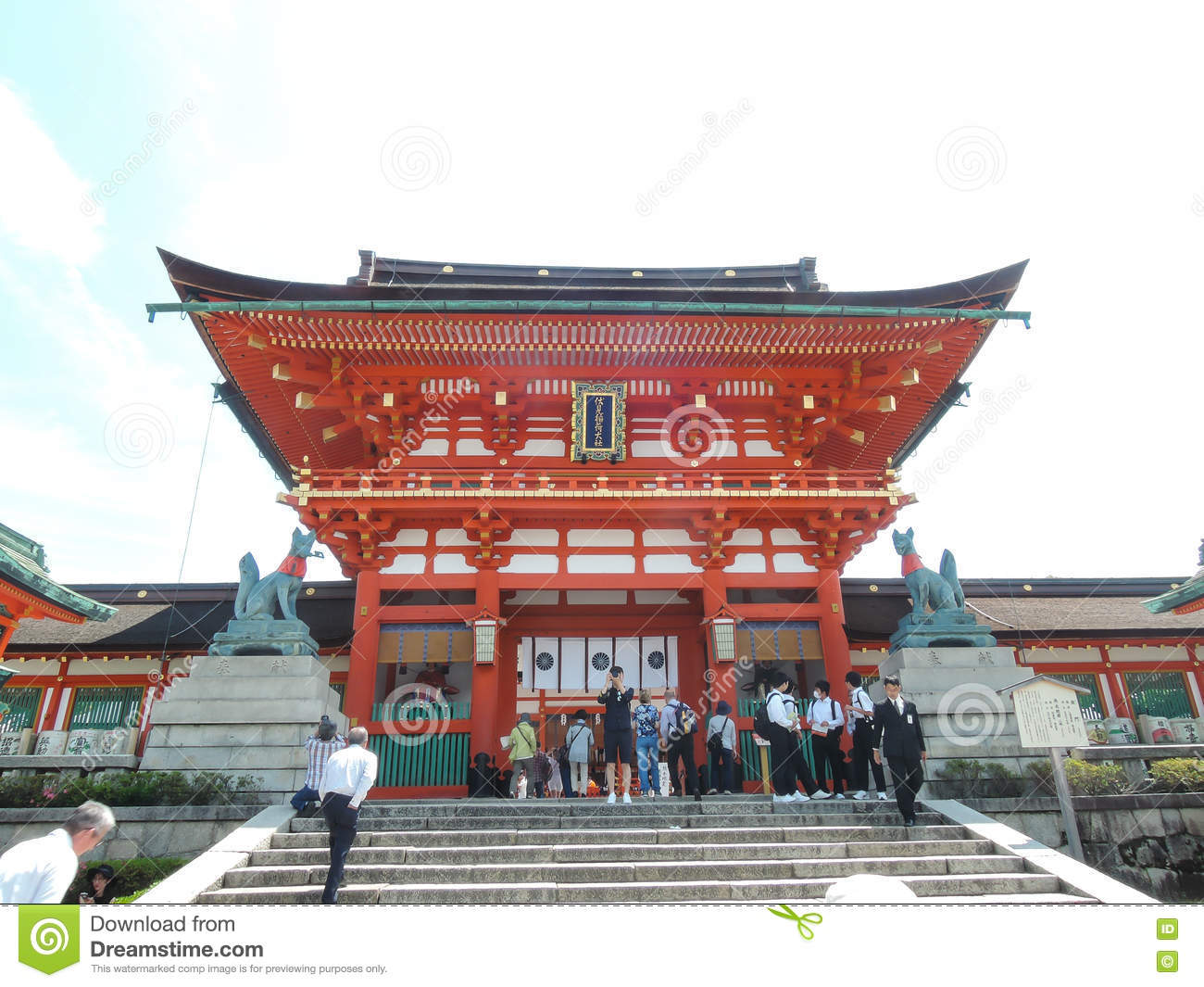 Osaka Temple Editorial Image.