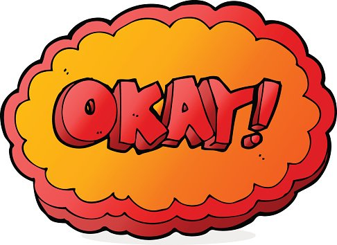 cartoon okay sign Clipart Image.