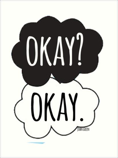 \'Okay? Okay Cloud Design\' Art Print by Alyssa Clark.
