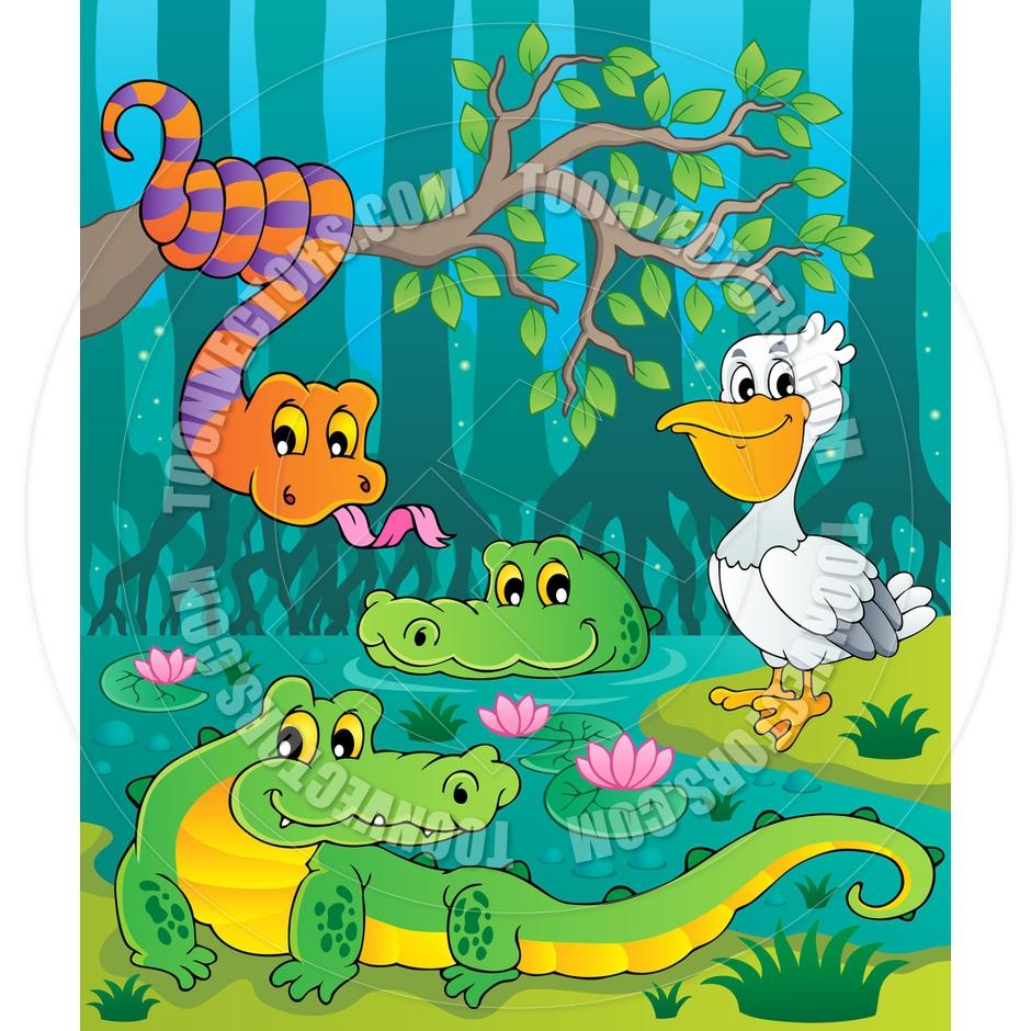 Okefenokee Swamp Cartoon.