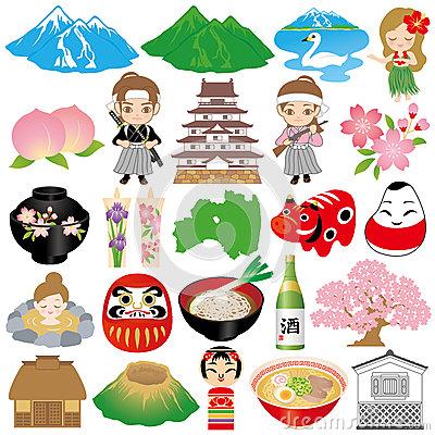 Okinawa Illustrations. Royalty Free Stock Photos.