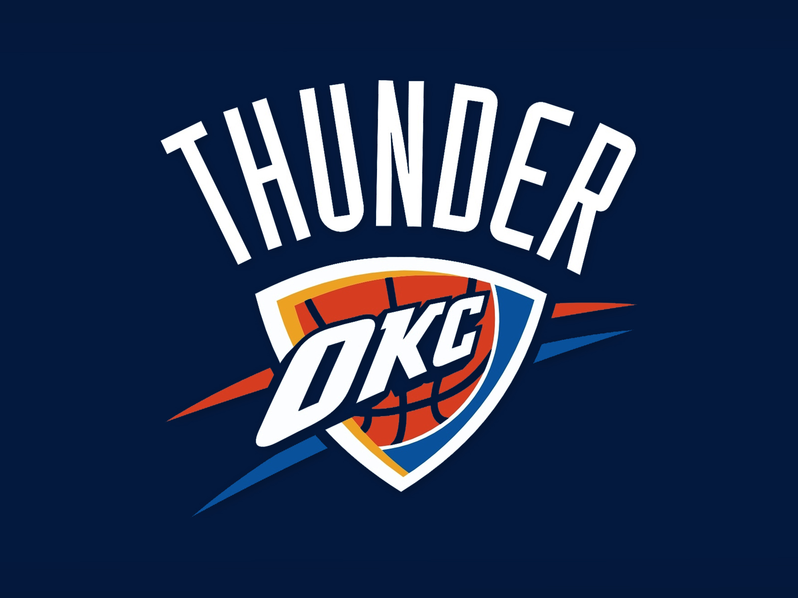 Oklahoma city thunder Logos.