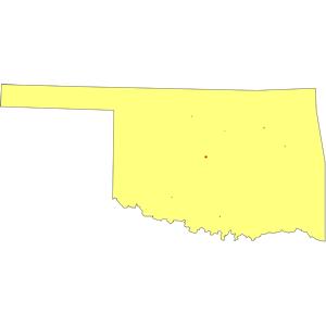 Oklahoma outline clipart free.