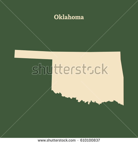 Oklahoma Outline Stock Images, Royalty.