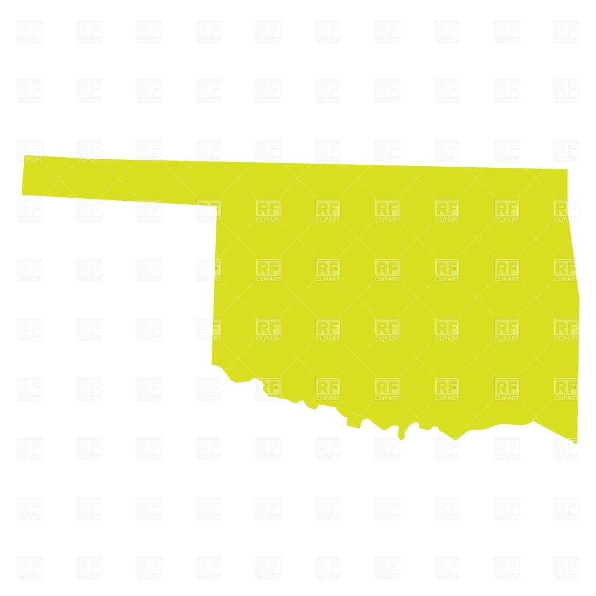 Oklahoma Outline Clipart.