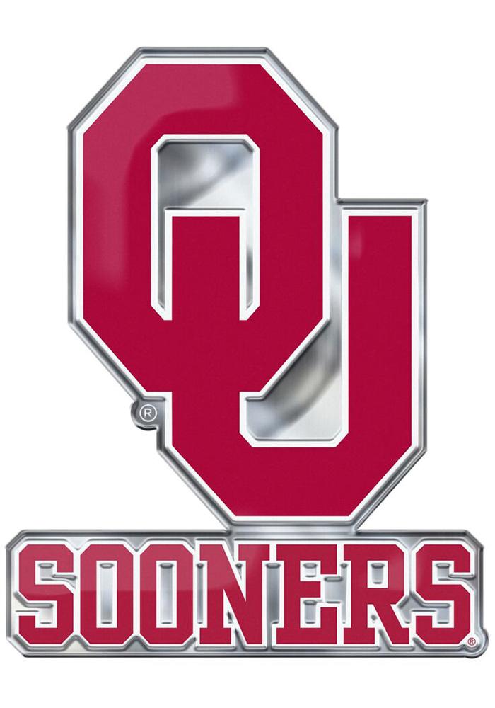 Oklahoma Sooners Aluminum Car Emblem.