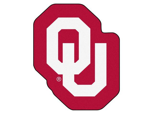 NCAA University of Oklahoma Sooners Mascot Novelty Logo Shaped Area Rug.