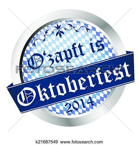 Clip Art of Button Oktoberfest 2014.