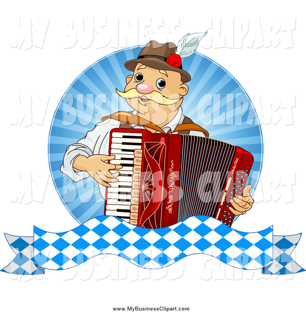 Vector Clip Art of a Happy Oktoberfest Man Musician Playing an.