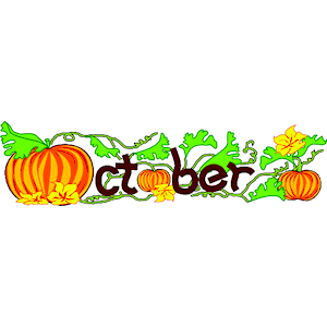 Free clipart for october calendar.