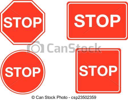 Clipart Vektor av fyrkant, stopp, isolerat, oktogon, underteckna.