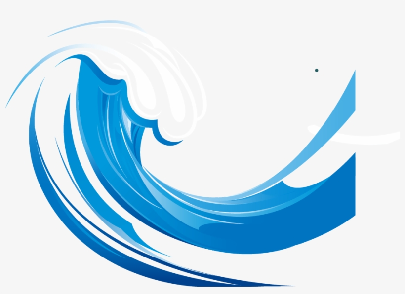 Wind Wave Euclidean Vector Clip Art.