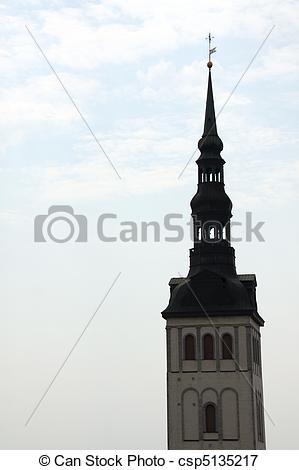 Picture of St. Olaf's church (Oleviste Kirik) in Tallinn, Estonia.