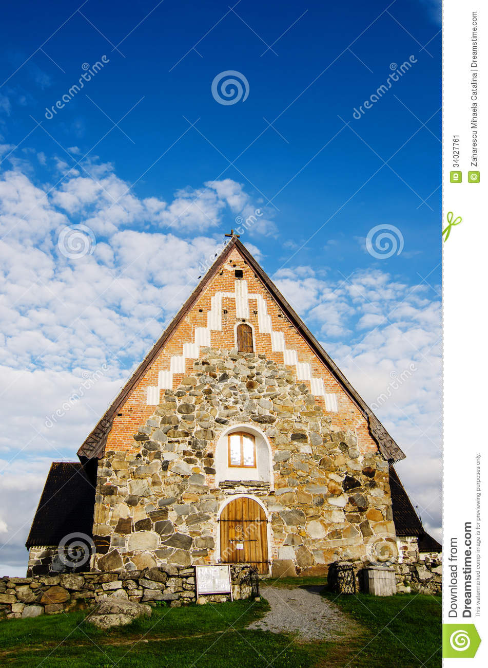 St. Olaf Church In Finland Stock Image.