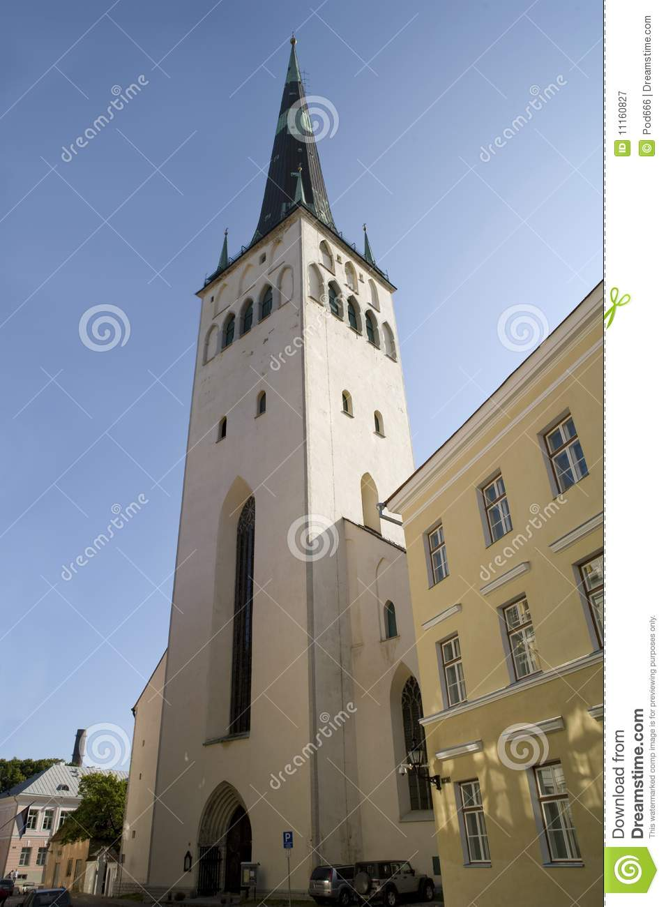 Tallinn Estonia St Olaf's Church Royalty Free Stock Photography.