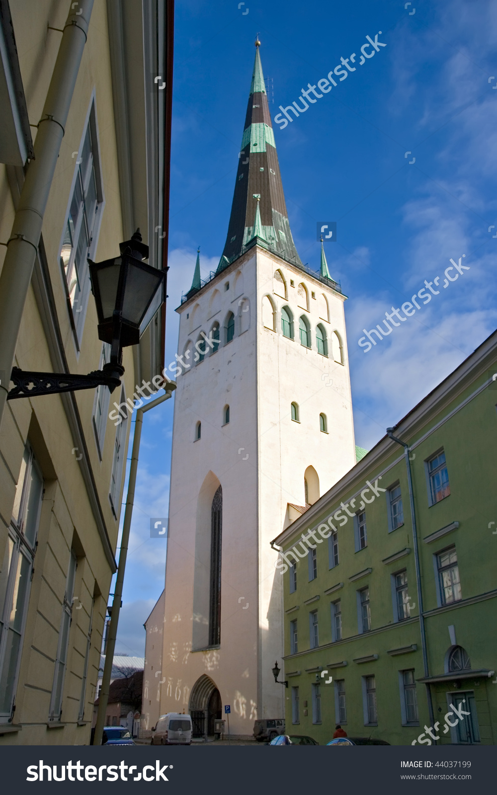 St. Olaf'S Church (Oleviste Kirik) In Tallinn, Estonia Stock Photo.