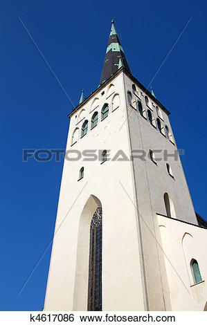 Stock Images of St. Olaf Church in Tallinn, Estonia k4617086.
