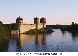 Olavinlinna castle savonlinna lakeland karelia finland Stock Photo.
