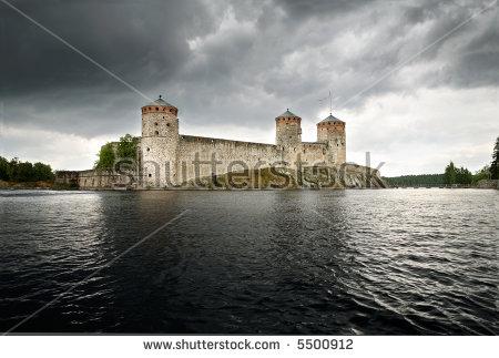 Olavinlinna Castle Eastern Medieval Stock Photos, Images.