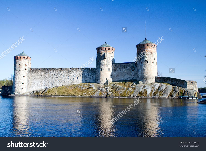 Olavinlinna Castle Savonlinna Central Finland Northernmost Stock.