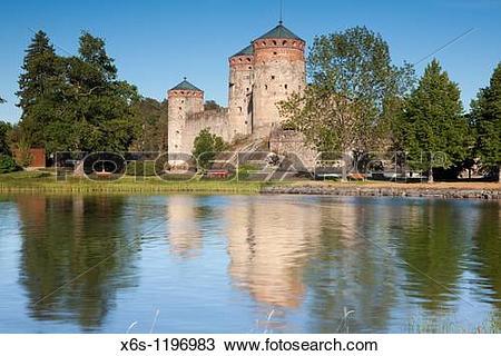 Stock Photo of Olavinlinna Castle, Savonlinna, Finland x6s.