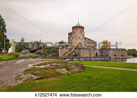 Stock Photo of Olavinlinna castle k12527474.