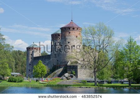 Olavinlinna Stock Photos, Royalty.