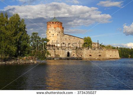Fortress Olavinlinna Stock Photos, Royalty.