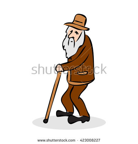 Old Man Walking Stock Photos, Royalty.