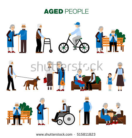Disabled People Care Help Assistance Accessibility Stock Vector.