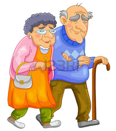 1,702 Couple Of Old Age Stock Vector Illustration And Royalty Free.
