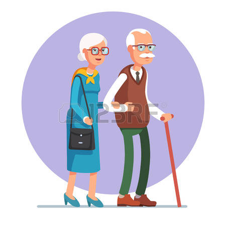 3,261 Happy Old Couple Cliparts, Stock Vector And Royalty Free.