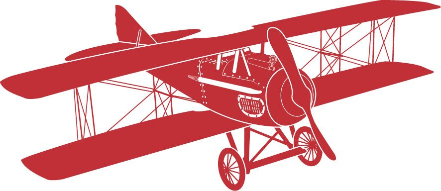 Red Vintage Airplane Clipart Vintage Airpla.