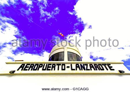 Lanzarote Arrecife Old Airport Museum Departure Lounge Air Hostess.
