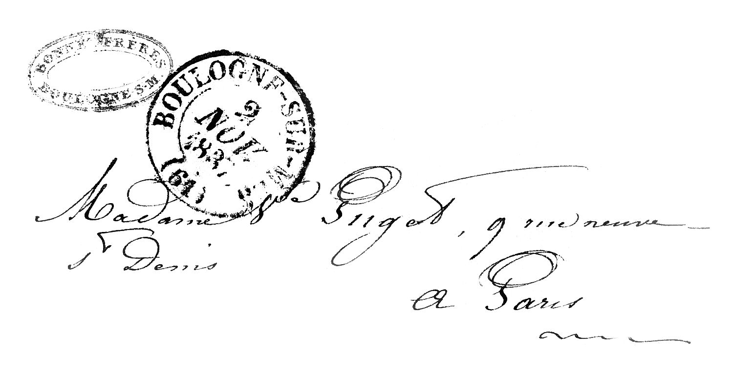 Old American Letter Black And White Clipart.