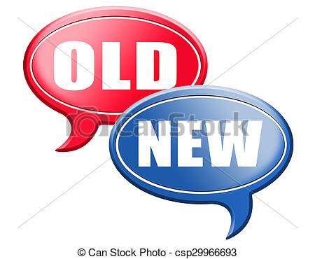 Stock Illustration of new or old modern or antique.