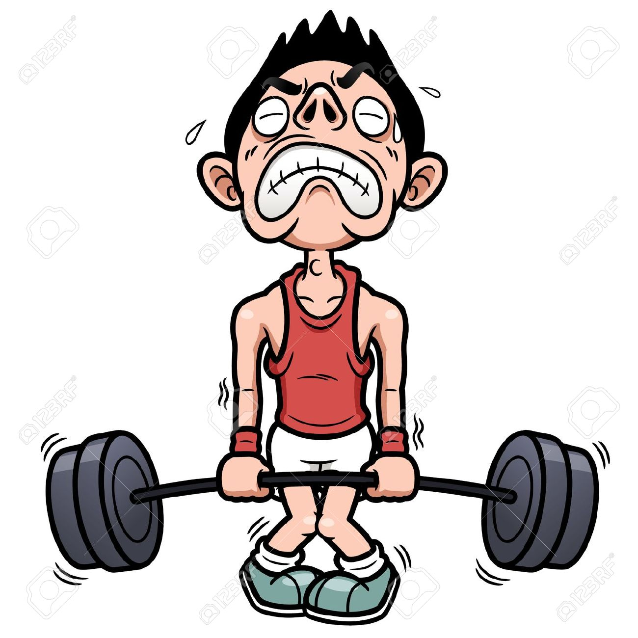 Strong confident man cartoon clipart free.