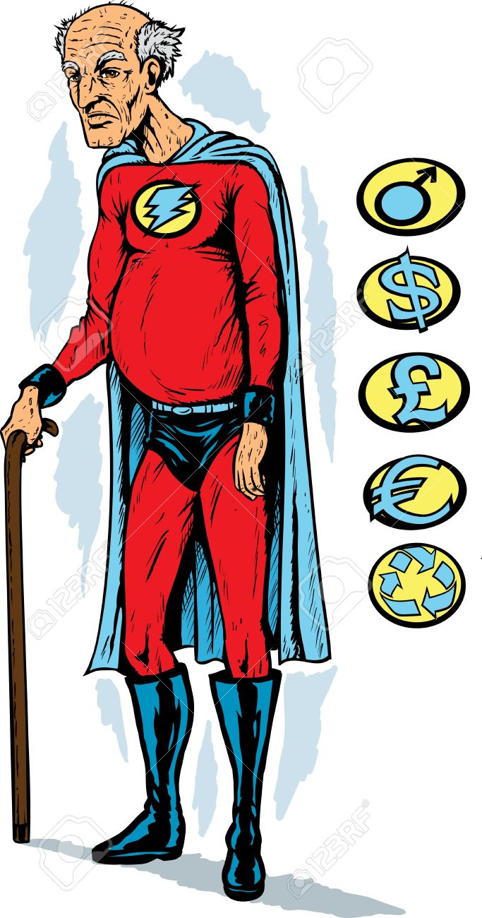 Old Superhero Royalty Free Cliparts, Vectors, And Stock.