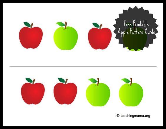 Apple Sensory Bin {With Free Printable.