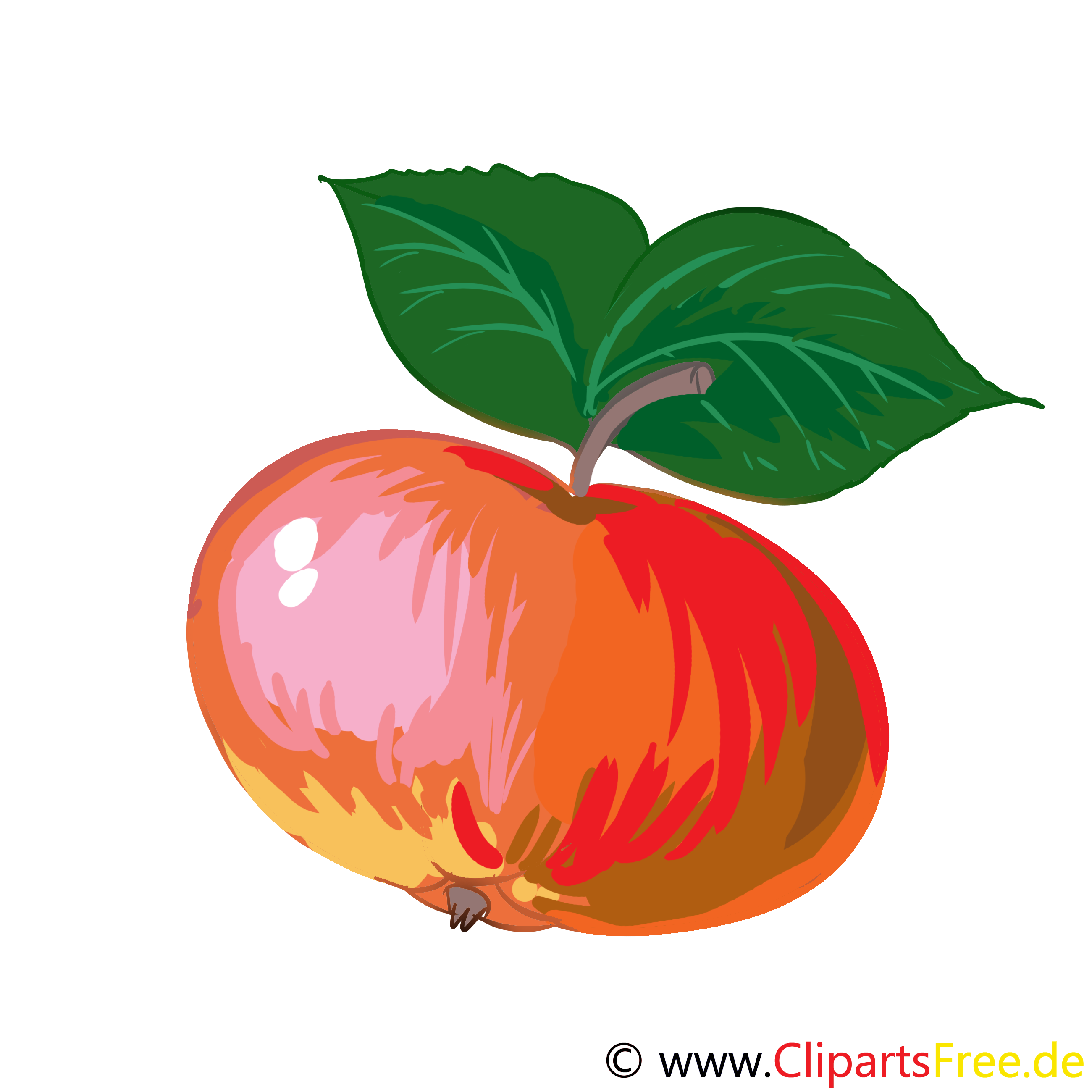 Apfel Cartoon.