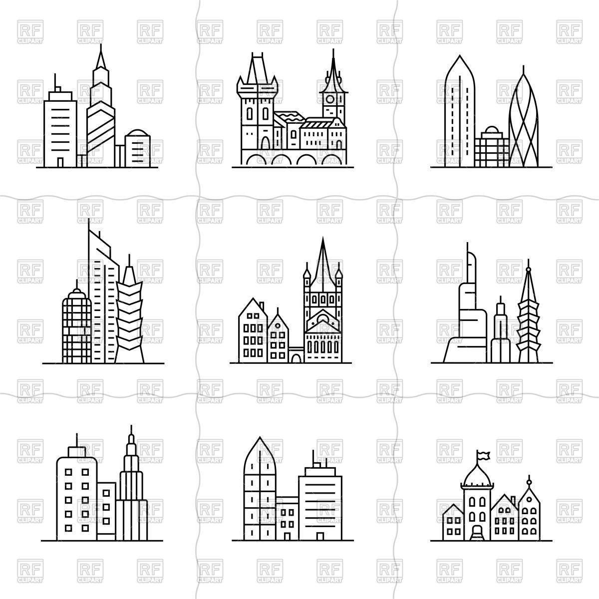 Cityscape icons.