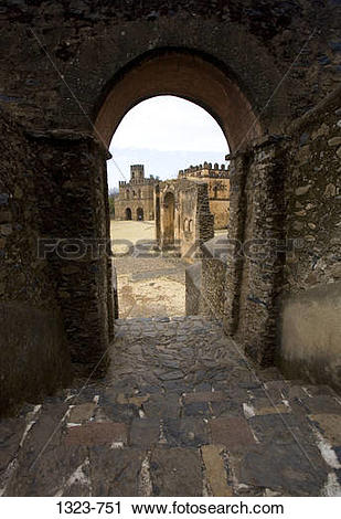 Stock Photography of Archway of an old palace, Emperor Fasilidas.