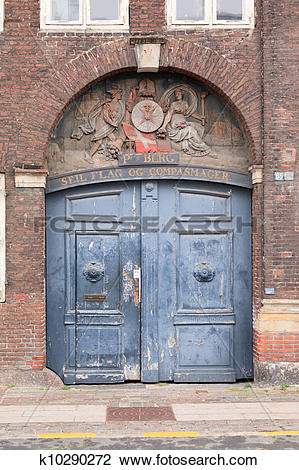 Stock Photo of Old archway and door k10290272.